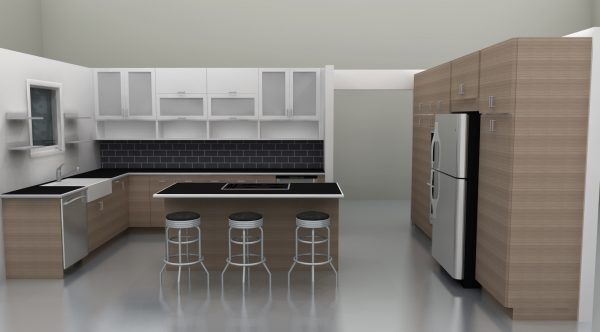 The new IKEA kitchen with SOFIELUND and APLAD white doors has the fresh, crisp finish their owners wanted.