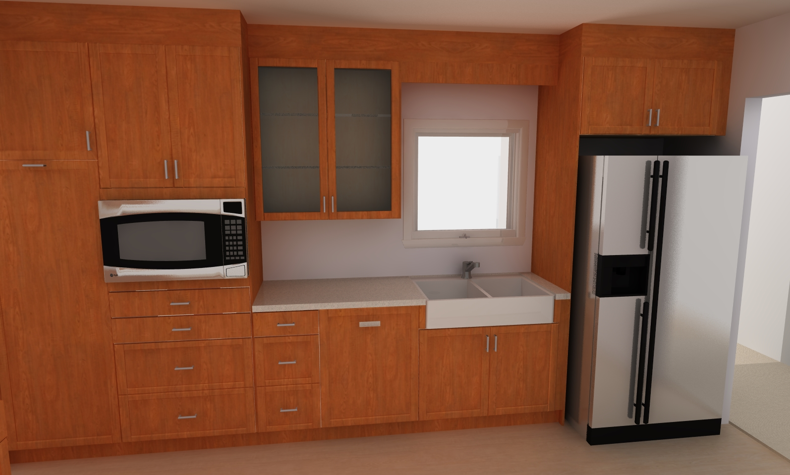 Adel doors for a contemporary ikea kitchen design for Who makes ikea microwaves