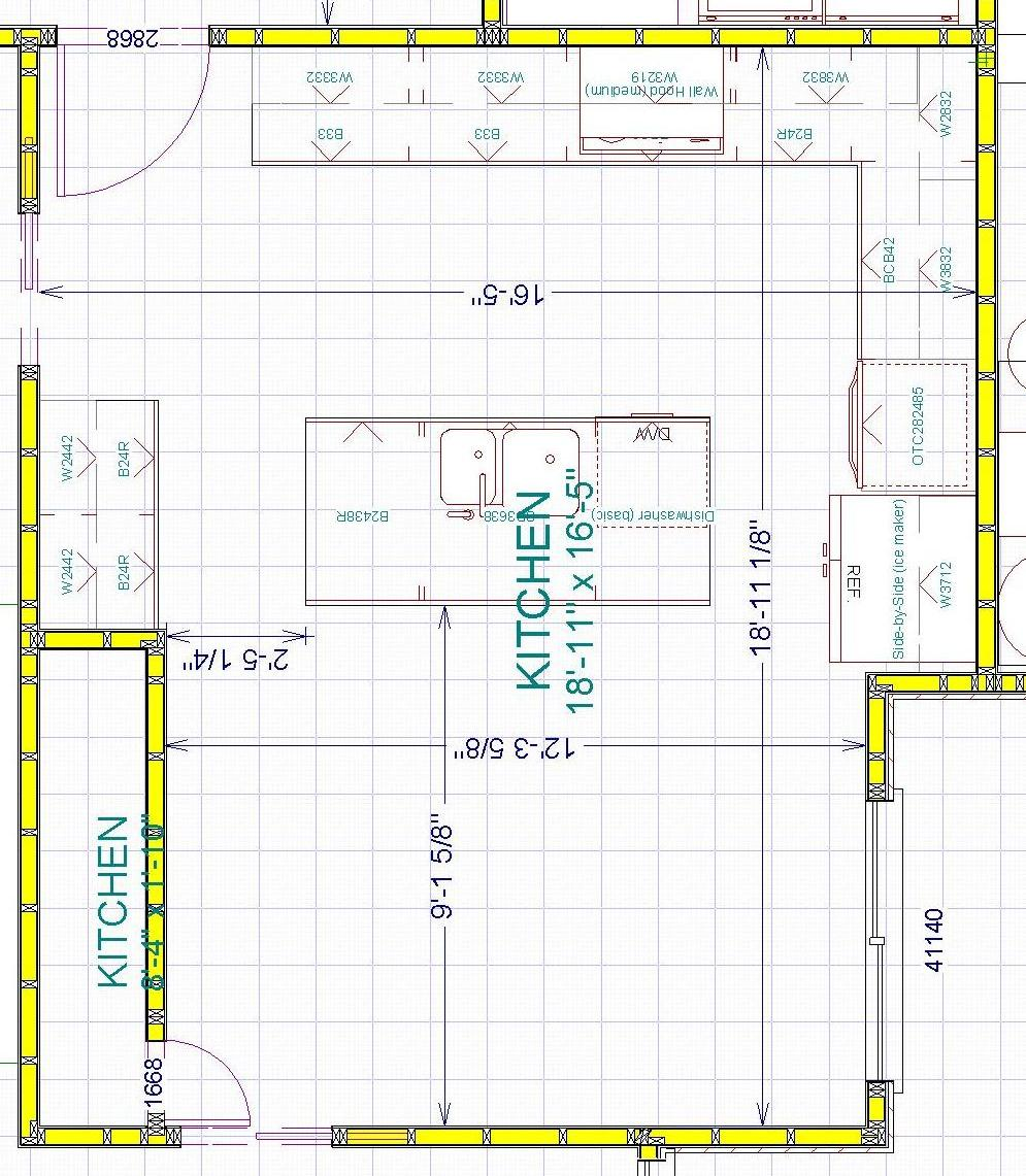 Floor plan before ikea kitchen remodel for Pictures of kitchen plans
