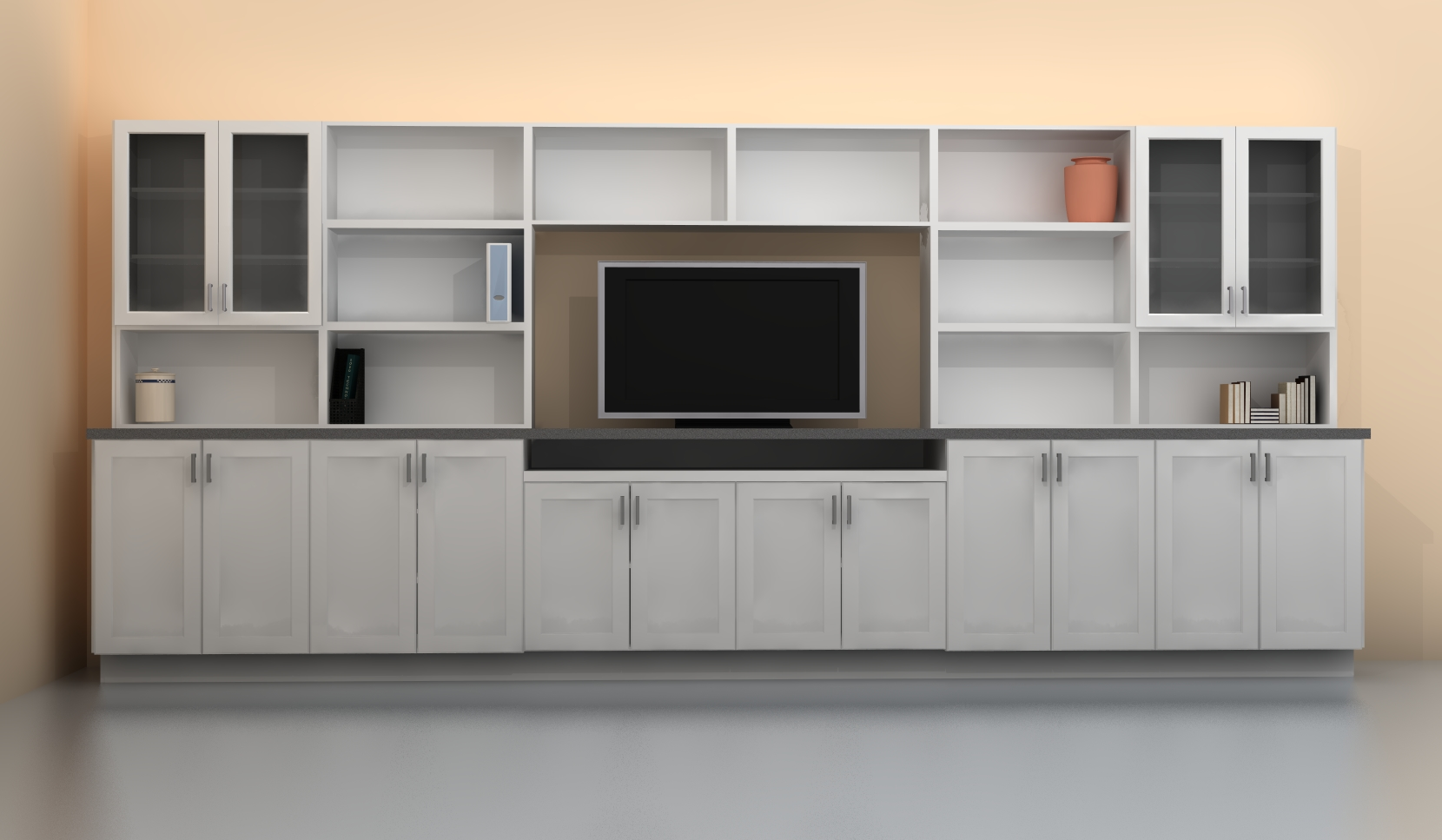 build a tv wall unit with ikea kitchen cabinets