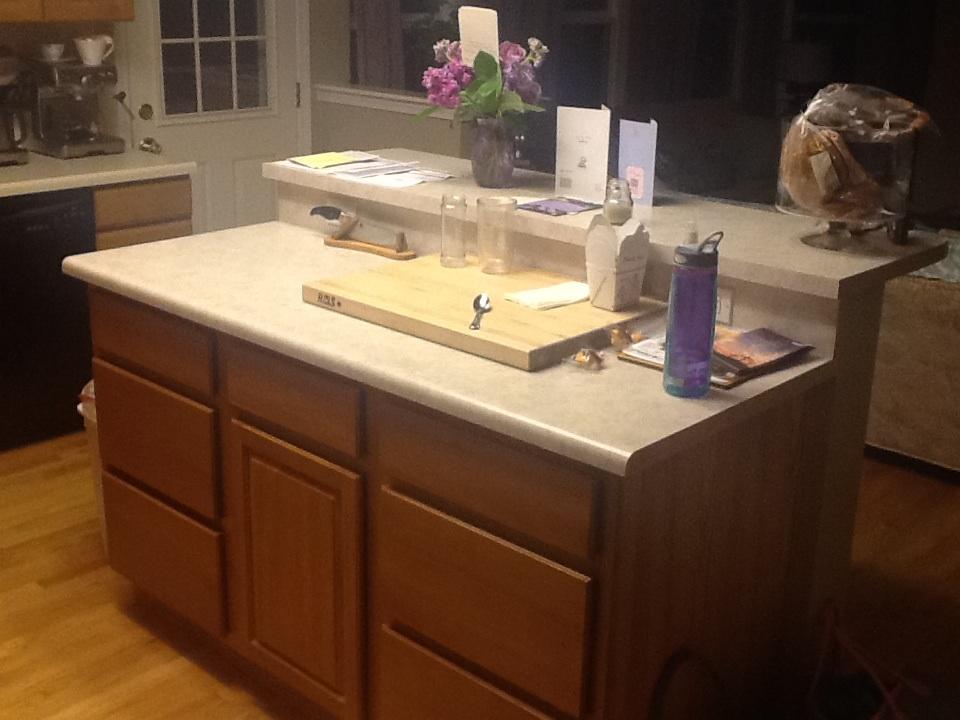 Old kitchen island before ikea design - Ikea kitchen islands with breakfast bar ...