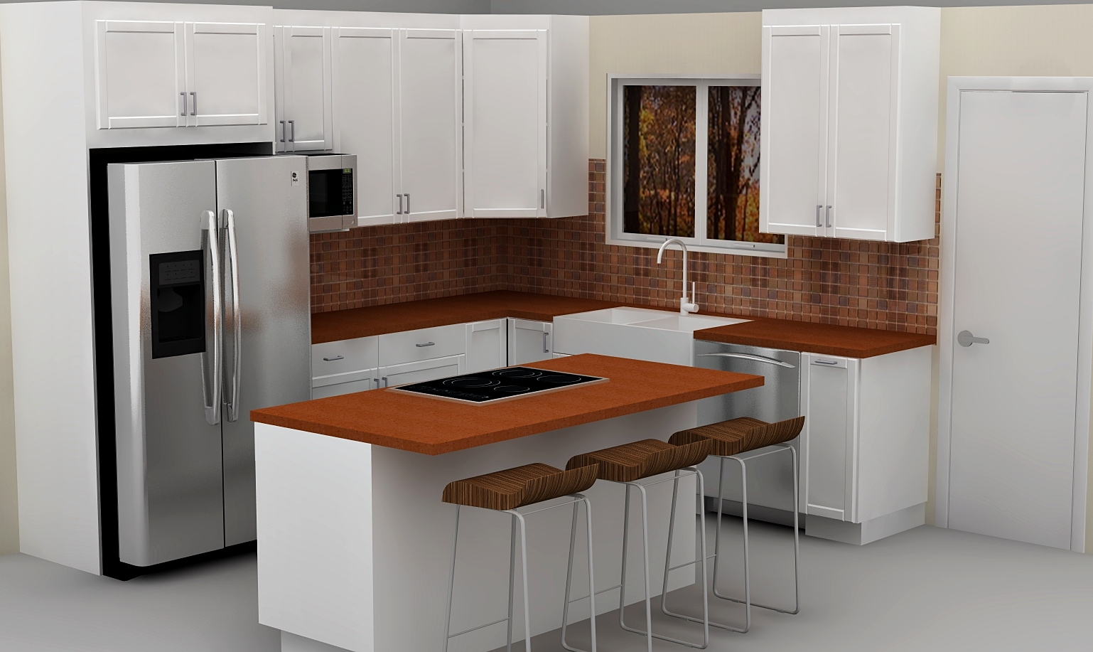 latest ikea small kitchen designs | A classic white IKEA kitchen with a twist
