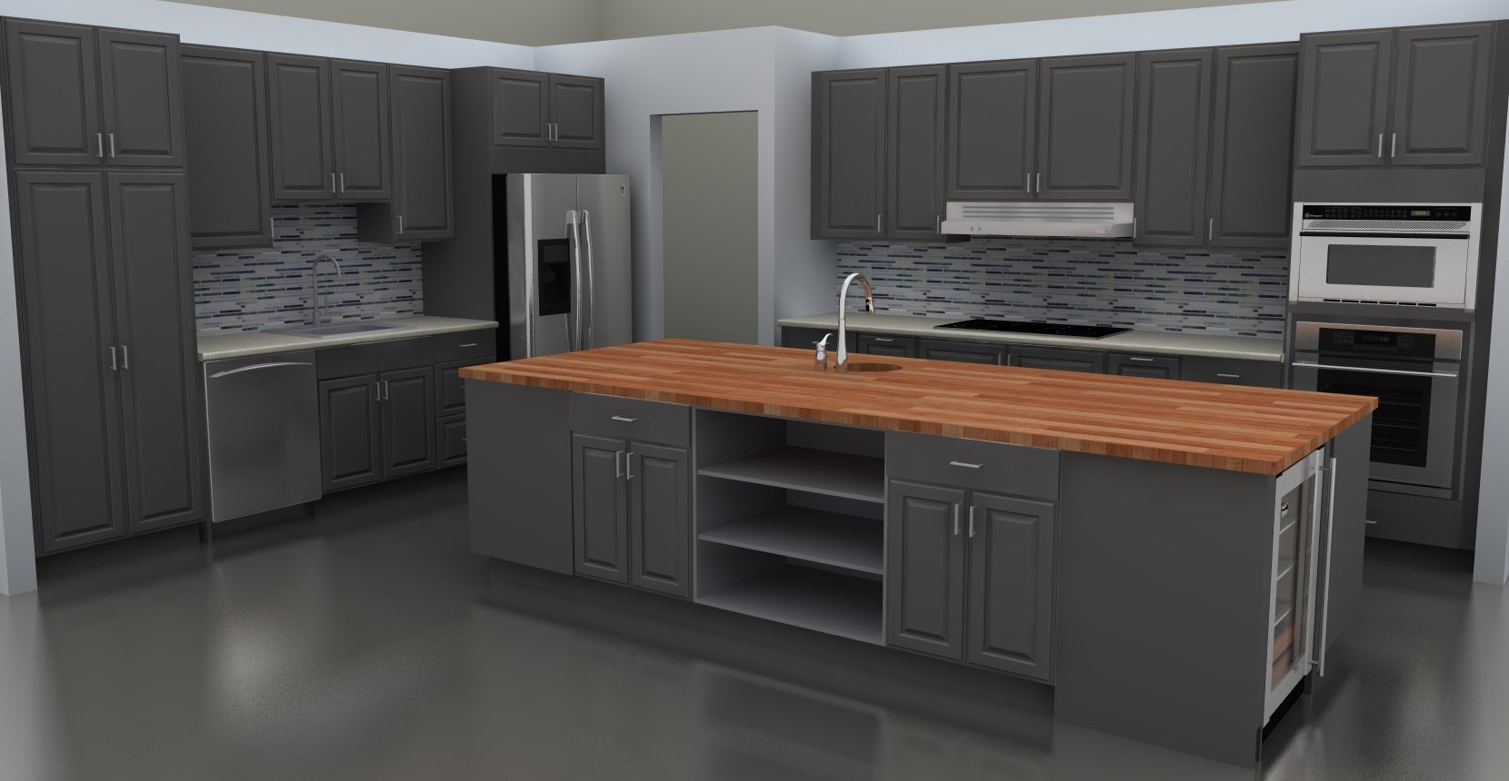 Ikea Island Cover Panel Installation ~ Stylish LIDINGO gray doors for a new IKEA kitchen