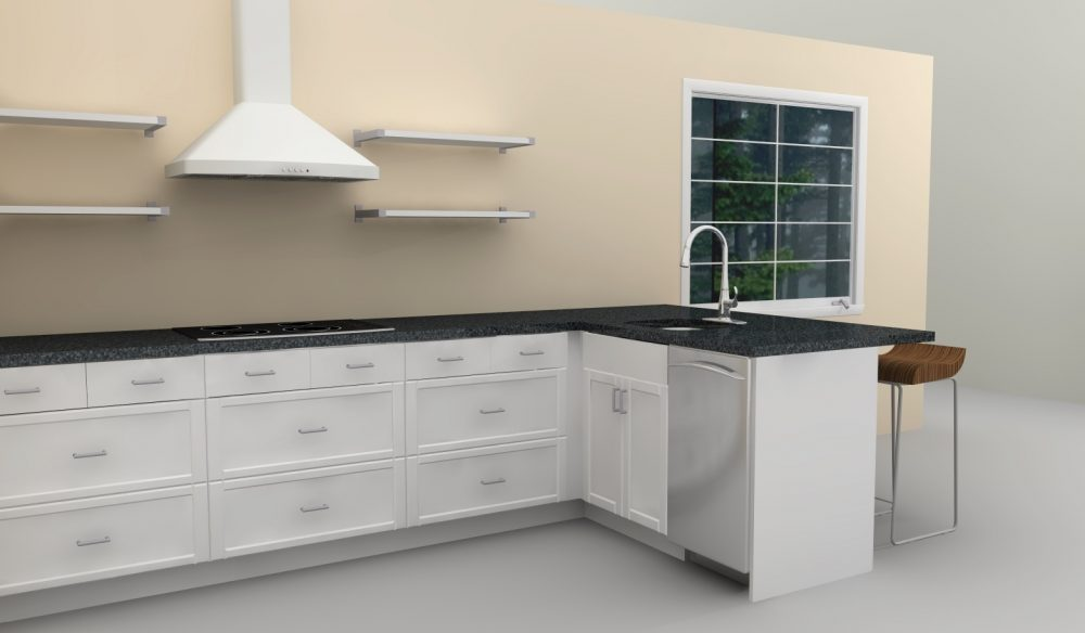 There are also lots of drawers that provide a perfect spot to store pots and pans.