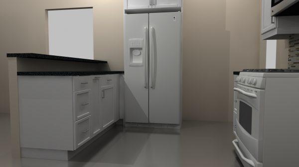 fridge at peninsula wall ikea kitchen