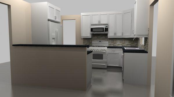 new ikea kitchen peninsula
