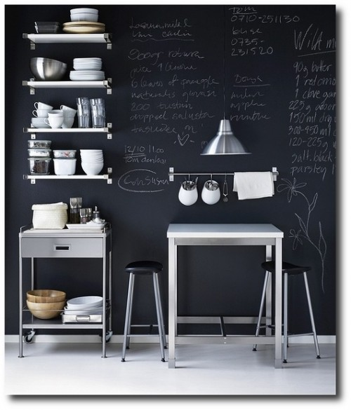 Family-friendly ways to use chalkboard in your IKEA kitchen