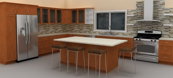New IKEA kitchen with an island