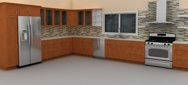 Integrated appliances in new IKEA kitchen
