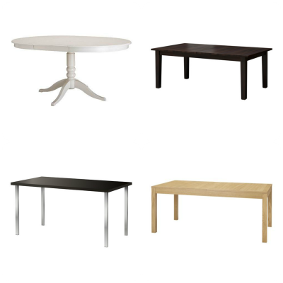 IKEA breakfast tables for a transtitional kitchen
