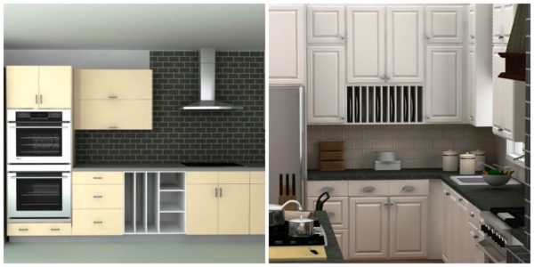 Open cabinets in your IKEA kitchen