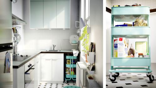 IKEA RASKOG turquoise kitchen cart