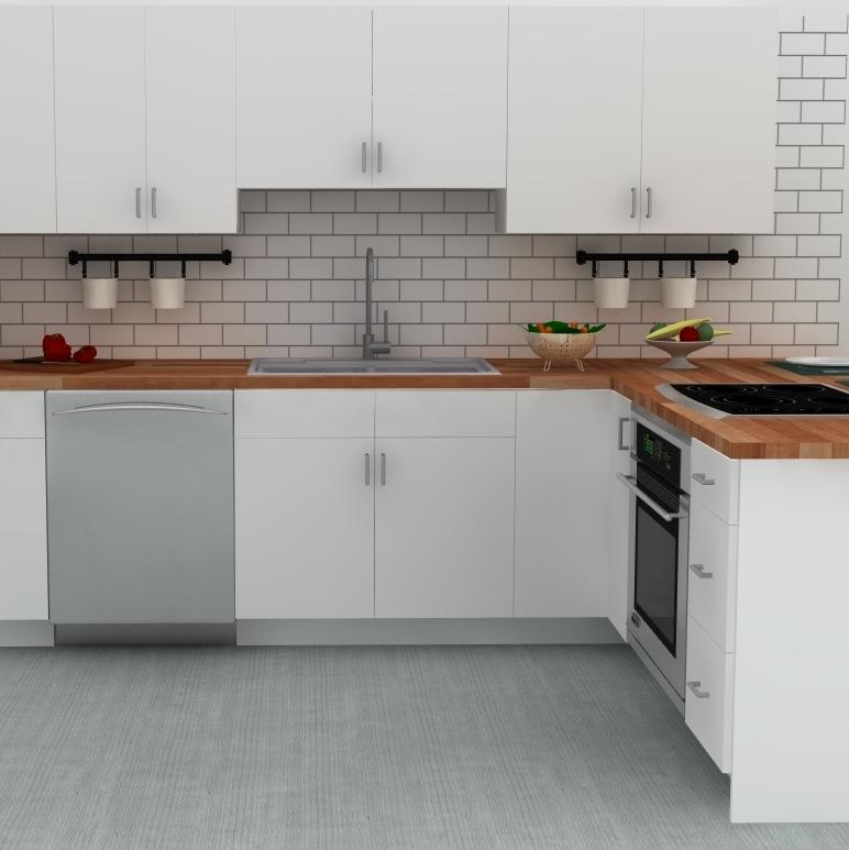 European IKEA kitchen in Germany