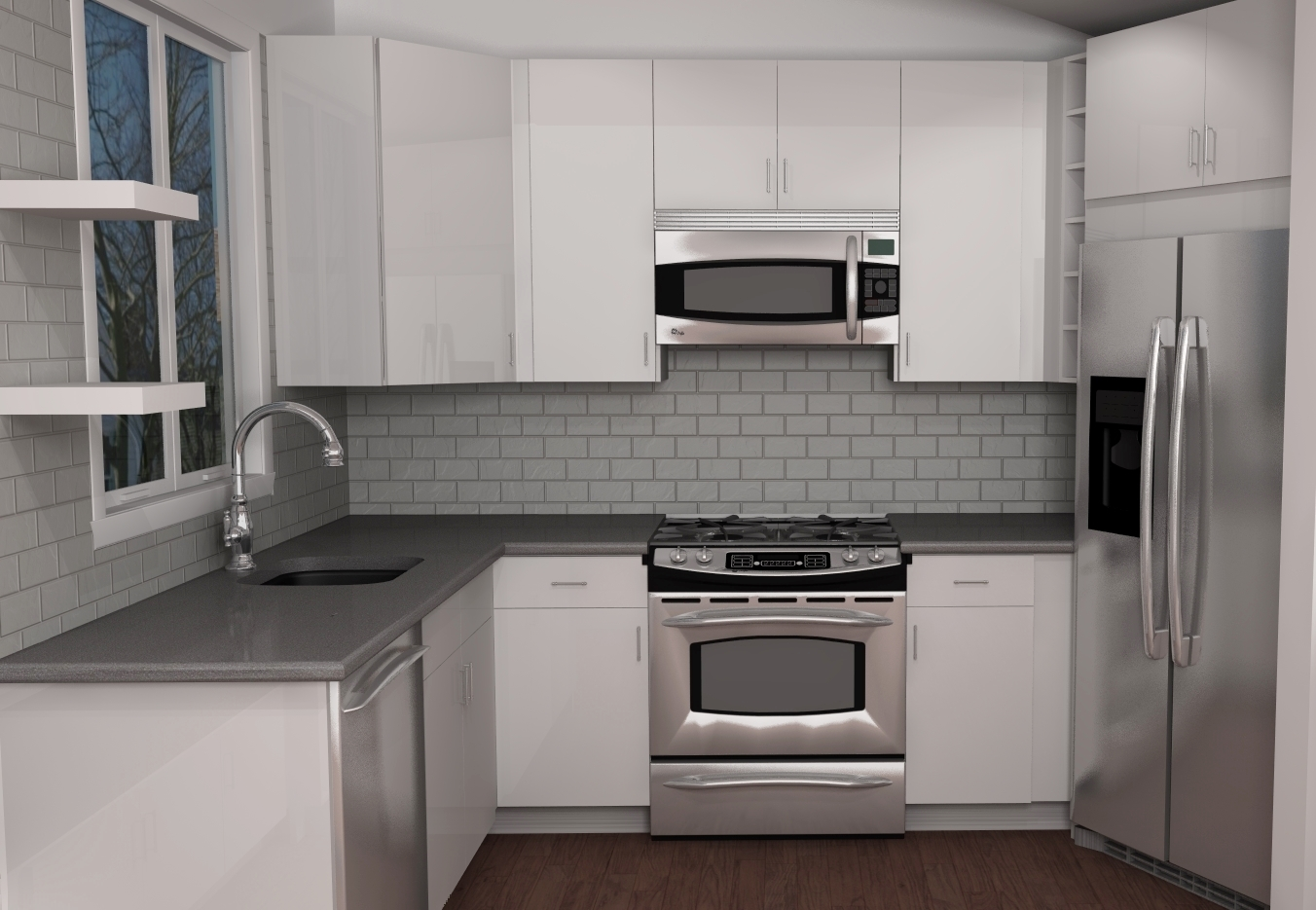 Small Modern Ikea Kitchen