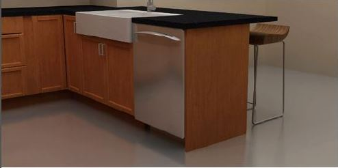 "A 30""x 40"" front for integrated appliances serves as an additional countertop support."