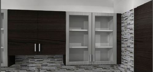 A PERFEKT Cover Panel is used as a filler between the cabinet and wall.