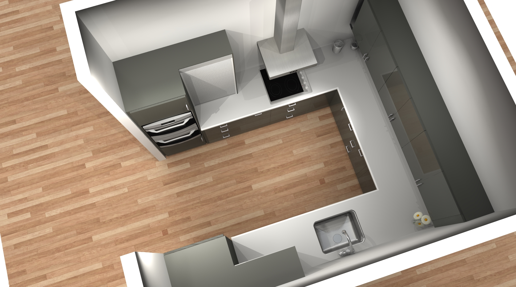 Small Under Counter Microwave ... AVSIKT appliance garage to keep small appliances out of the counter