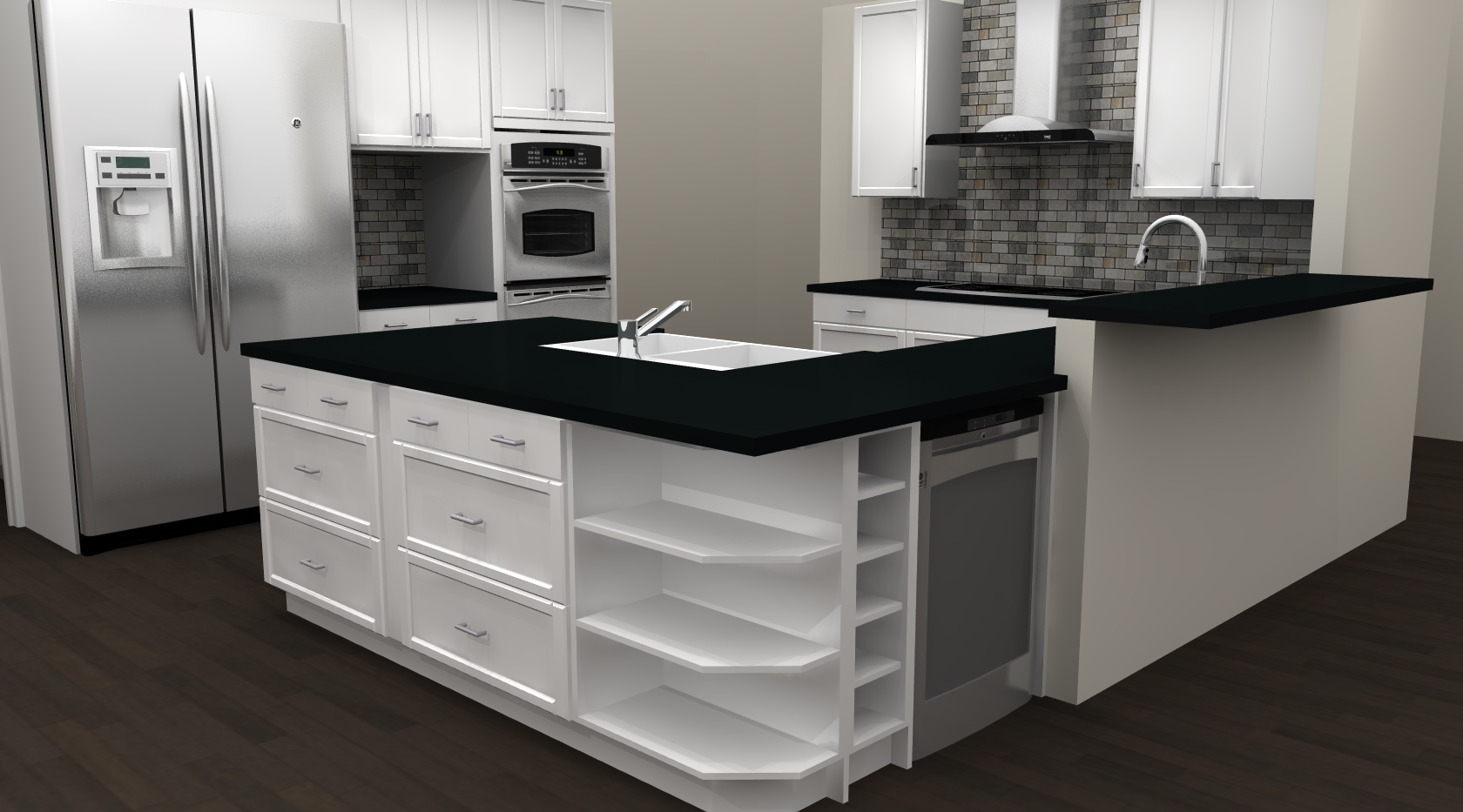 Ikea Kitchen Flooring IKEA Kitchen Remodel Brandon Render 4 Like A Mullet This 80 39 S Kitchen