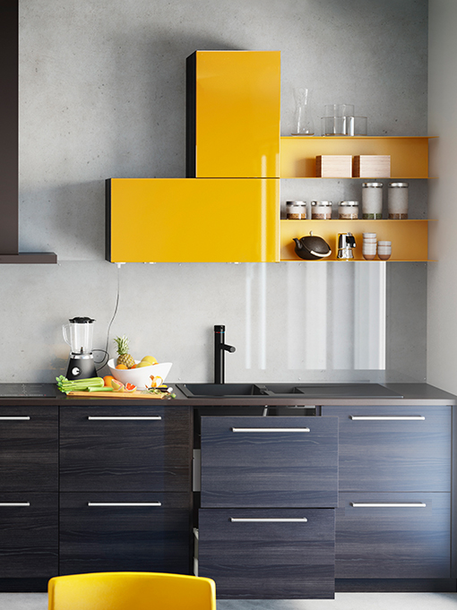 Ikea Kitchen Cabinets Sektion Black
