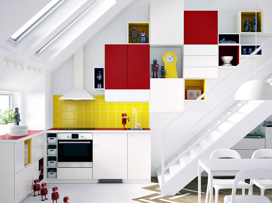 Ikea 39 s sektion is exploding with color Kitchen design colors 2014