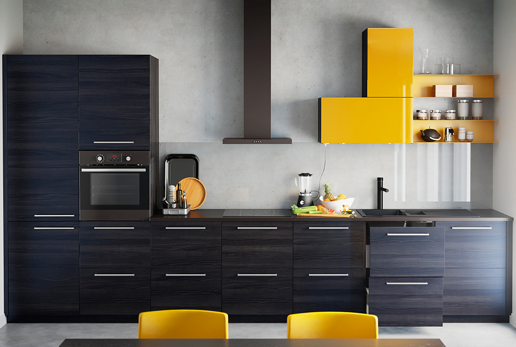 Ikea Einbauküche ikea s sektion is exploding with color