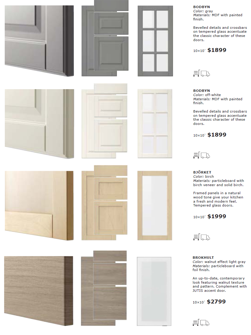 the new names of ikea kitchen cabinet door and drawer fronts