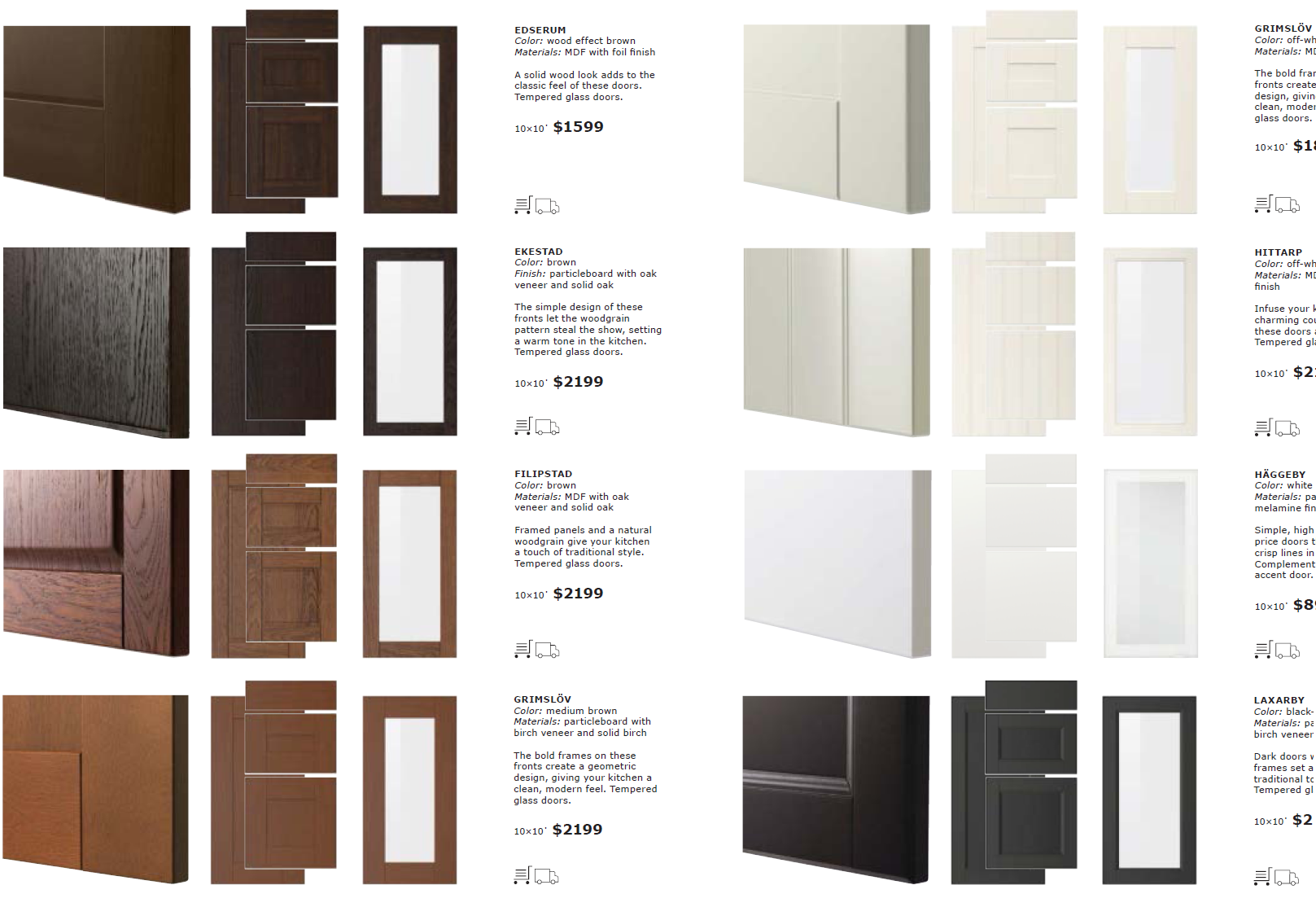 IKEA SEKTION cabinet doors and drawer fronts (4)