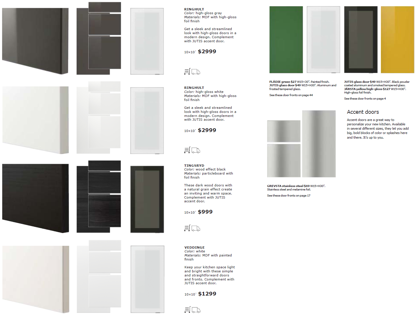 a close look at ikea sektion cabinet doors