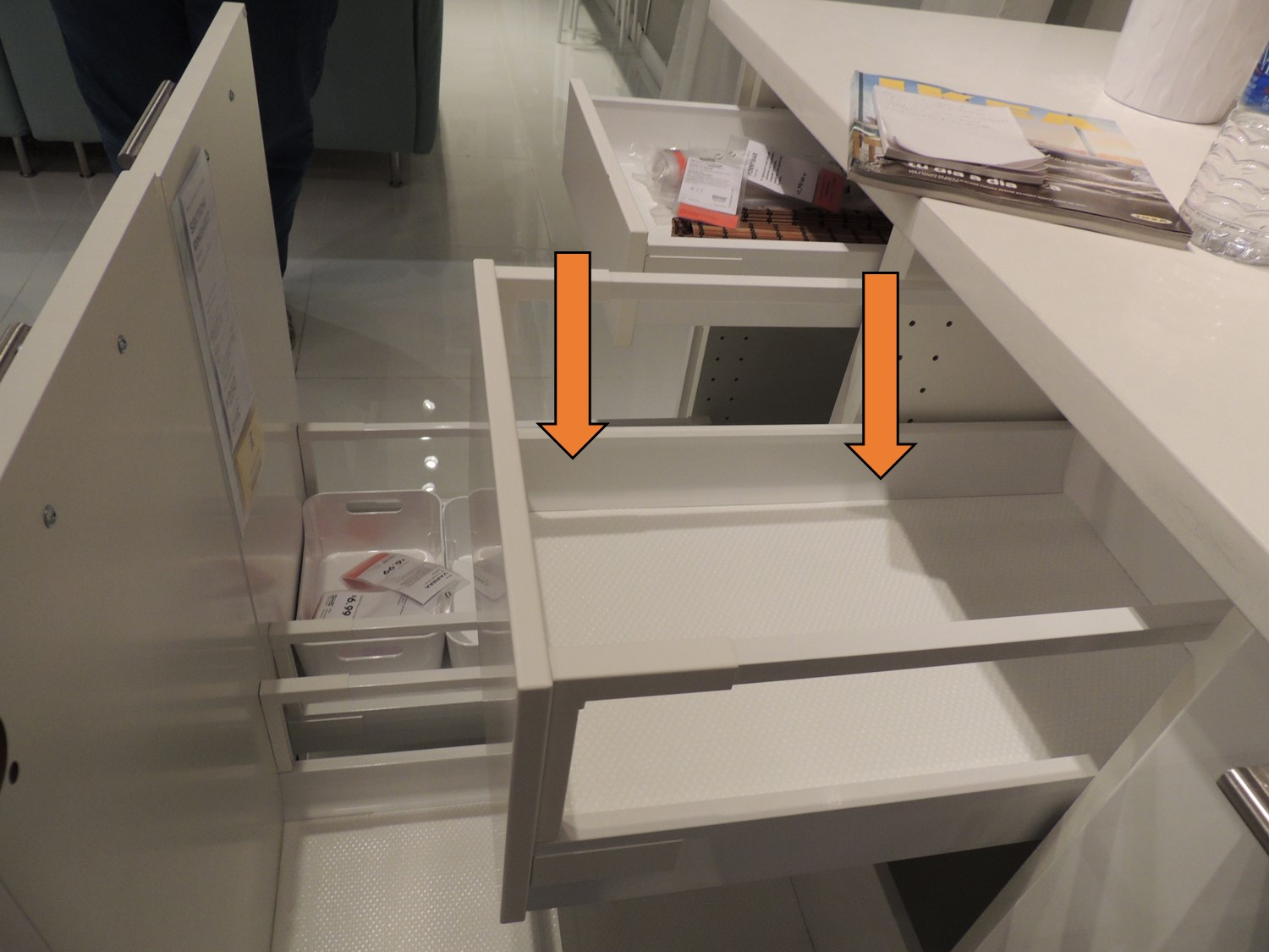the difference between ikea s two different kitchen drawer