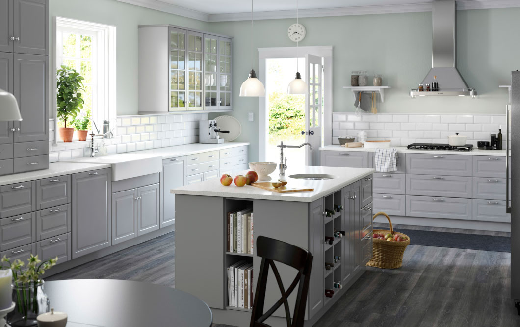 Help How Do I Design For A Small Kitchen - Best wall color with gray cabinets