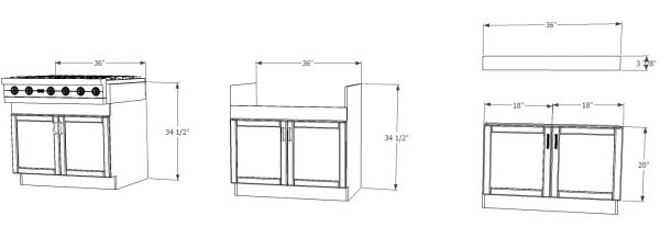 Ikea Kitchen Hack A Base Cabinet For Farmhouse Sinks And Deep Cooktops