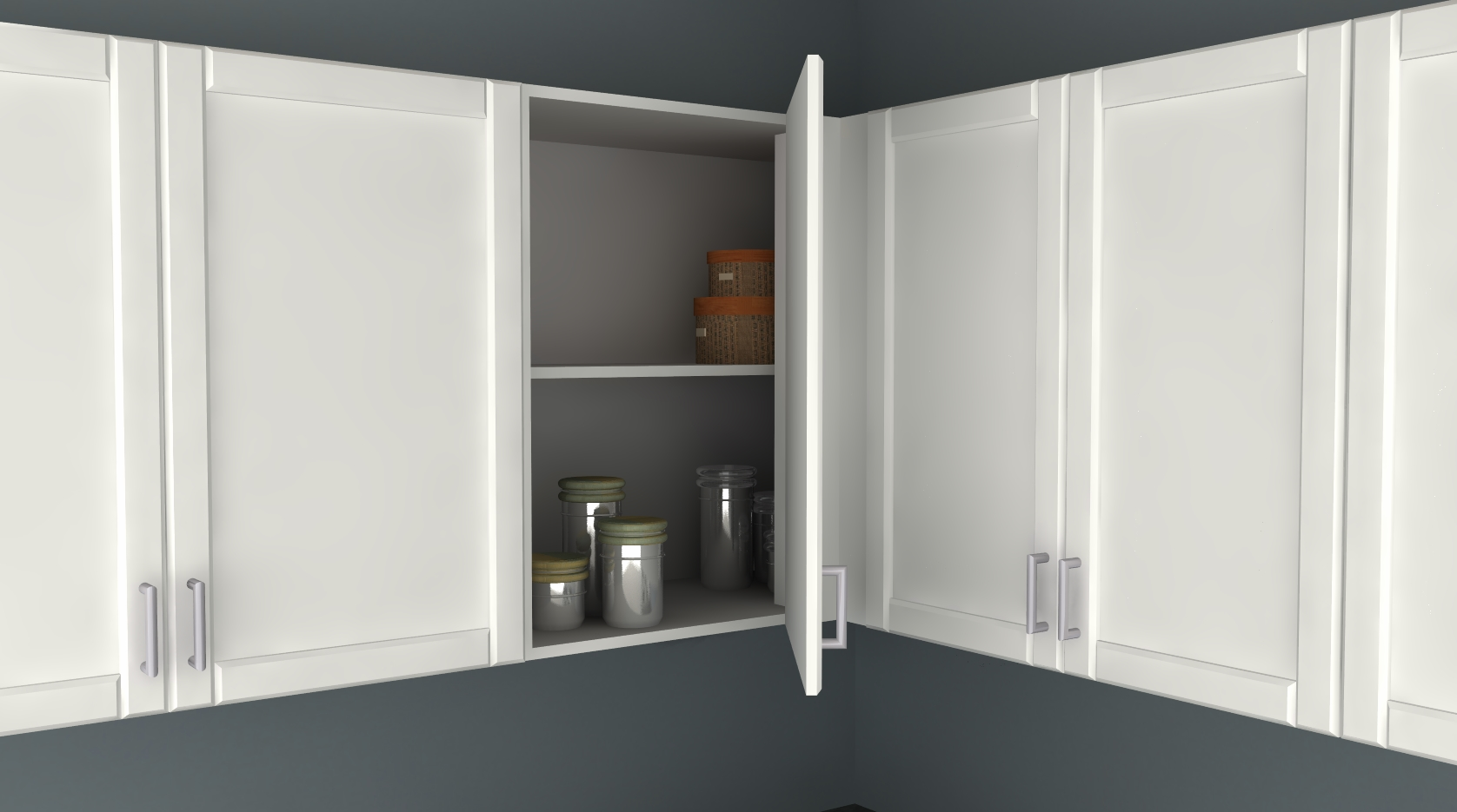 ikea kitchen hack: a blind corner wall cabinet perfect for
