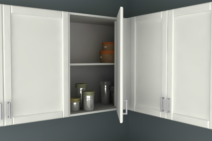 Ikea Kitchen Hack A Blind Corner Wall Cabinet Perfect For Irregular Kitchens
