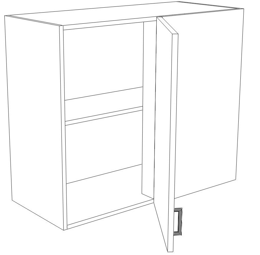 Ikea kitchen hack a blind corner wall cabinet perfect for - Ikea corner cabinet door installation ...