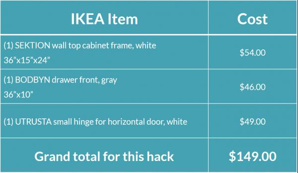 refrigerator horizontal cabinet hack ikd