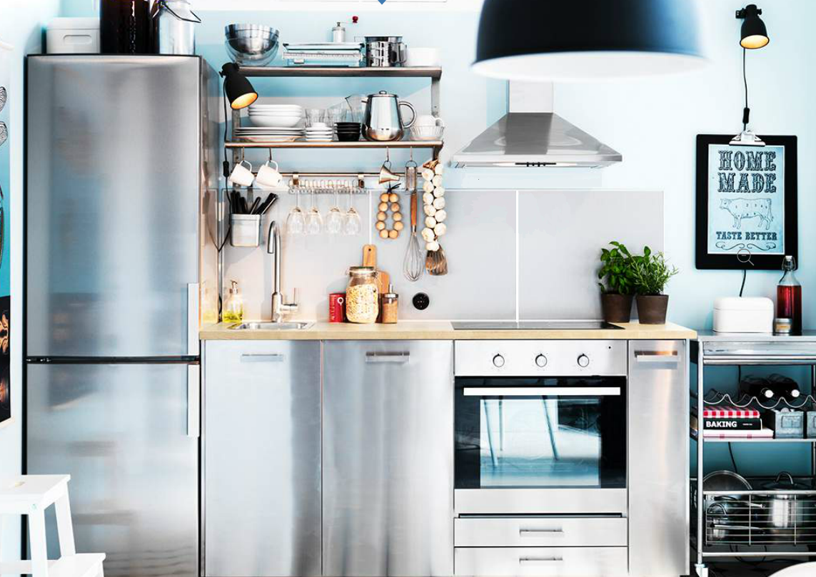 Why ikea kitchens in europe and australia look so built in for Who makes ikea microwaves