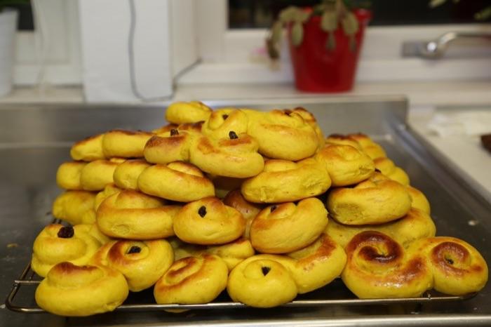 "Homemade ""lussebullar"" - Saffron buns"