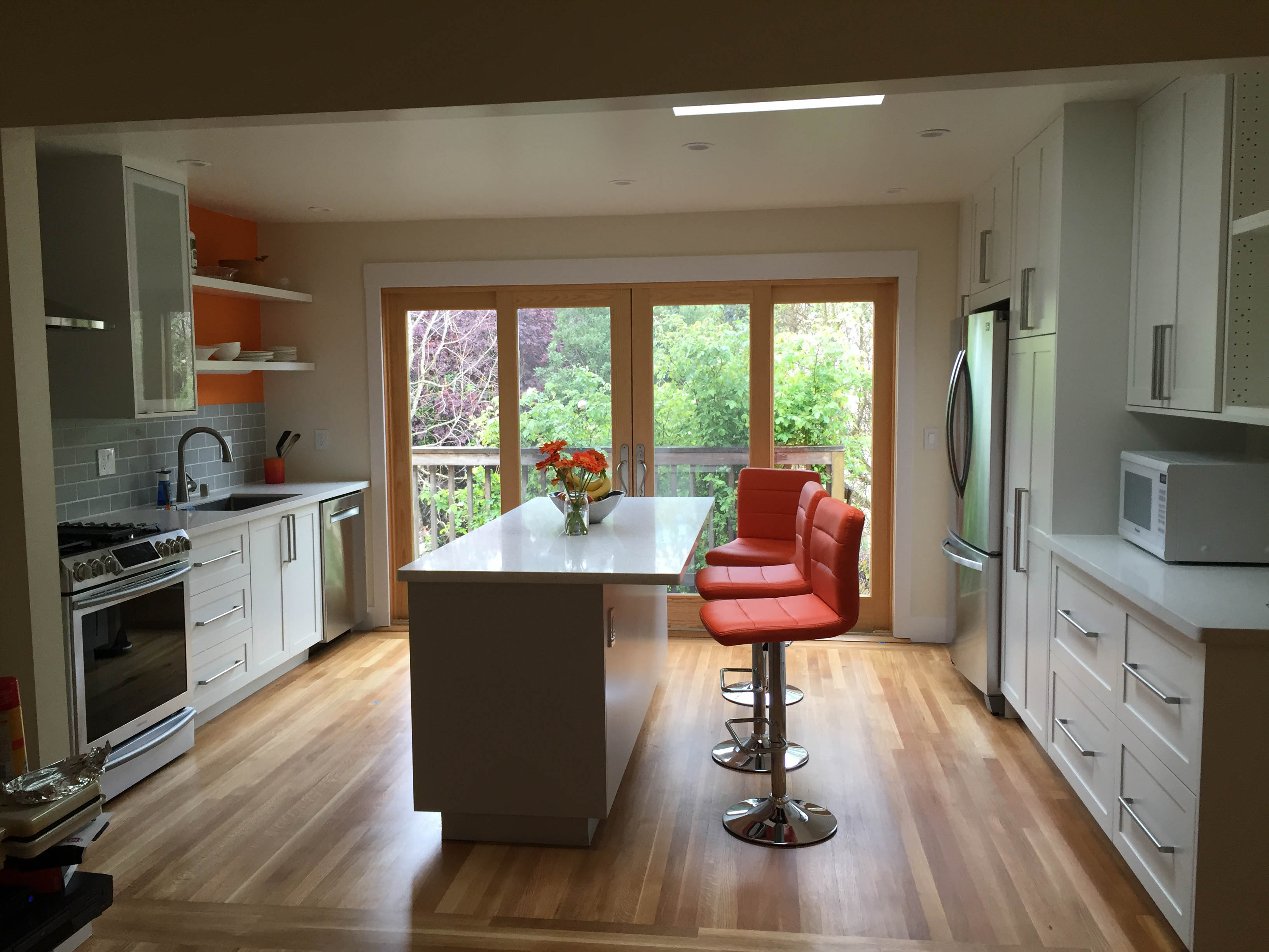 Orange And Grey Make This IKEA Kitchen Pop