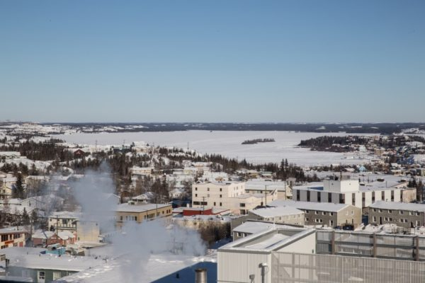 The condo offers a view of Great Slave Lake in Northwest Territories, Canada