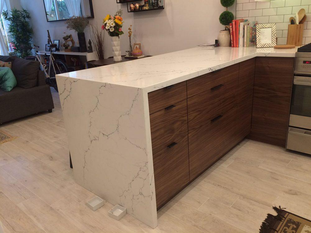 ikea kitchen mid century modern (1)