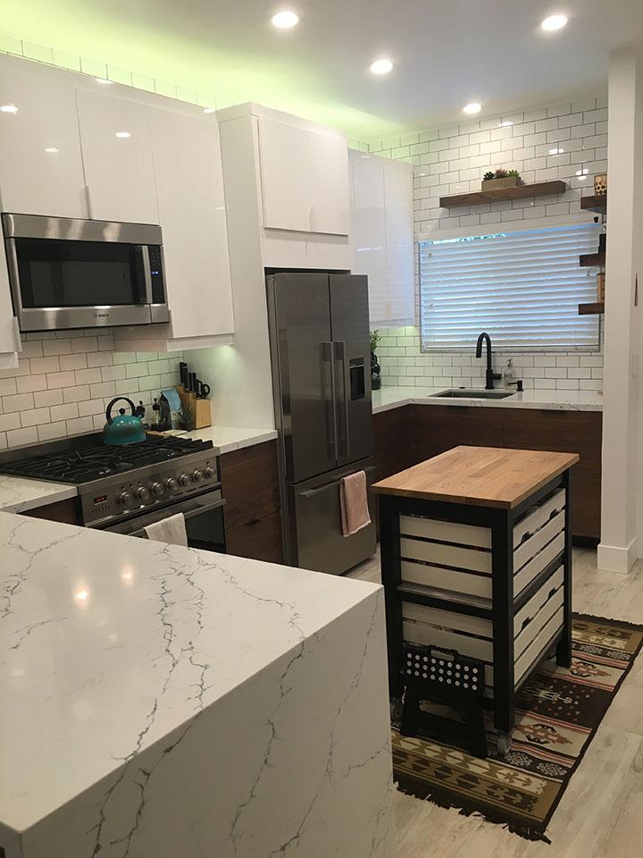 ikea kitchen mid century modern (5)