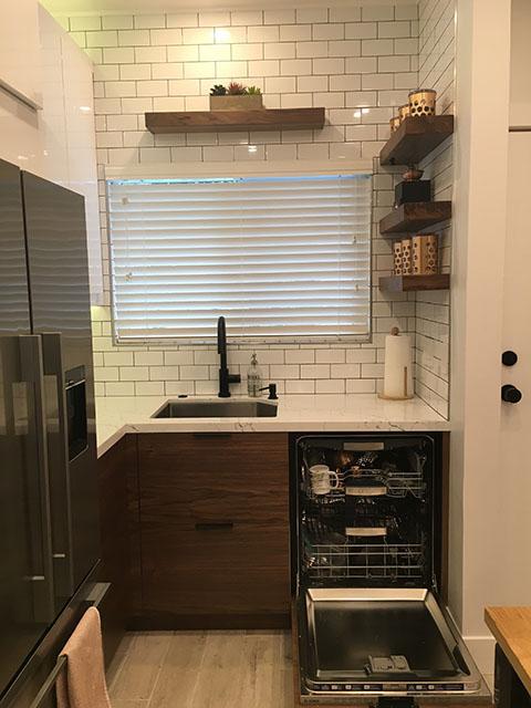 ikea kitchen mid century modern (8)