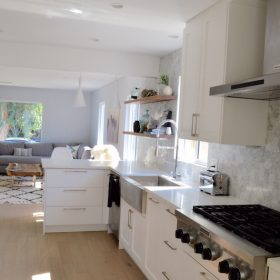 An Affordable, Modern and Open IKEA Kitchen Design in Los Angeles