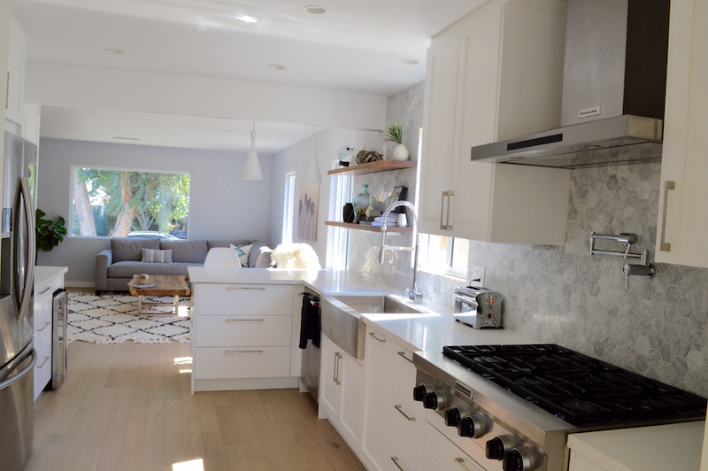 IKEA and IKD Inspired Kitchen Design – a new, modern and open kitchen in LA