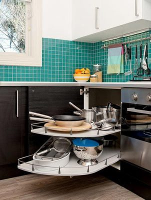 Small kitchen tips: IKEA pull out carousel