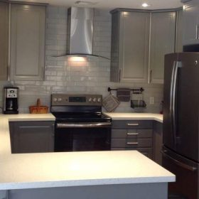IKEA gray kitchen Bodbyn