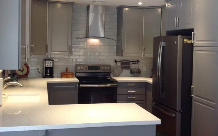 IKEA gray kitchen Bodbyn