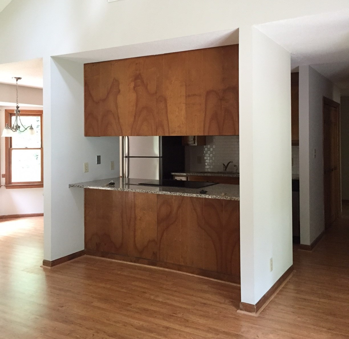 ... IKEA Walnut VOXTORP Doors. Marie Chose To Open Up Her Kitchen With A  Very Different Design Decision. Can You Guess? This Is What Her Kitchen  Looked Like ...