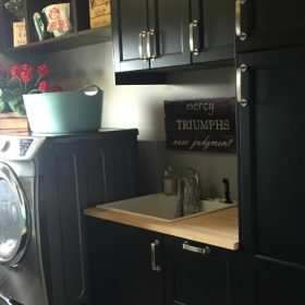 How to Design a Bathroom and Laundry Room with IKEA Kitchen Cabinets