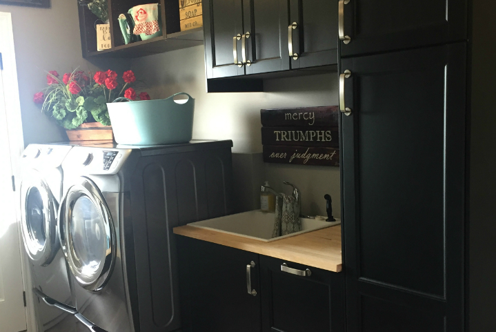 How to Design a Laundry Room and Bathroom with IKEA Kitchen